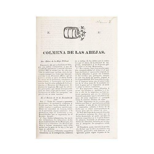 Los Primeros Periódicos Poblanos y Otros Documentos. La Abeja Poblana - Colmena de las Abejas - El Amigo del Pueblo. Puebla: 1820 - 21.