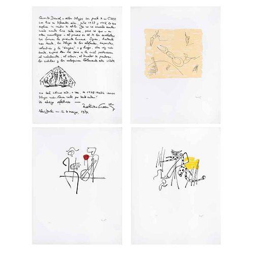 """MATHIAS GOERITZ, El circo, 1949, Signed, Serigraphs HC, Different measurements, 11.8 x 9.2"""" (30 x 23. 5 cm), Pieces: 11"""