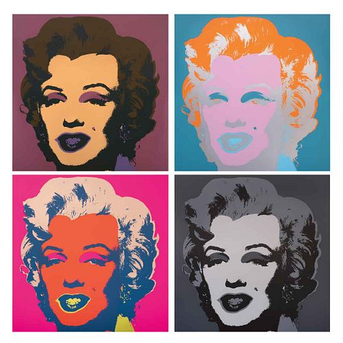 """ANDY WARHOL,II.22-II.31: Marilyn Monroe,w/seal on the back """"Fill in your own signature"""",Serigraphs, 35.4 x 35.4"""" (90 x 90 cm) each, 10 pcs"""