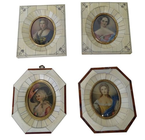 Four (4) European Gold Gilt Portrait Frames