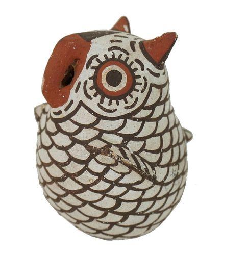 N.B. Zuni Native American Ceramic Owl Figure