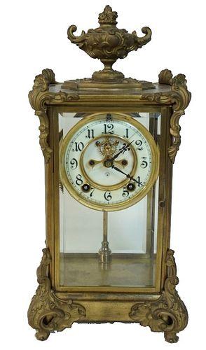 A French Gilt Bronze Mantel Clock