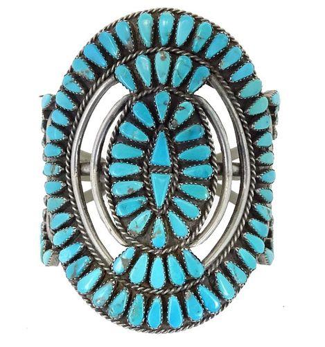Zuni Turquoise & Sterling Silver Bracelet