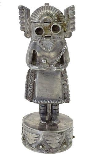 Native American Sterling Silver Kachina Figure