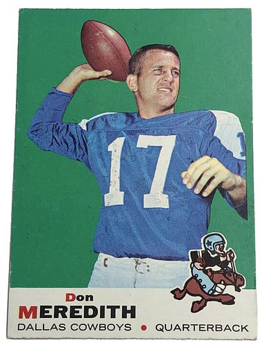 Don Meredith 1969 Topps #75 Football Card