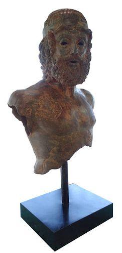 Large Roman Style Bronze Bust Sculpture