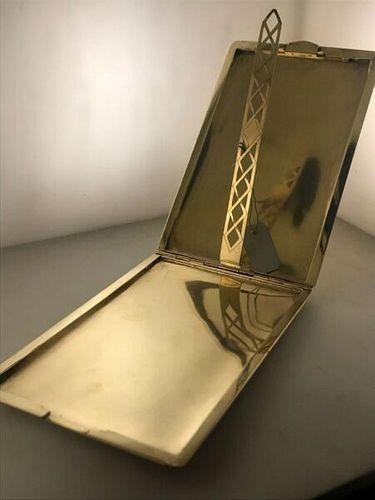 UDALL & BALLOU VINTAGE SOLID YELLOW GOLD CIGARETTE CASE CIRA 1930'S $20K Value!!