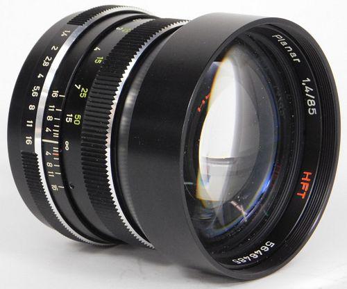Zeiss Planar HFT Lens 85mm f/1.4, Rollei QBM