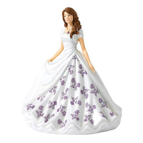 ROYAL DOULTON BIRTHSTONE PETITE FIGURINE, FEBRUARY