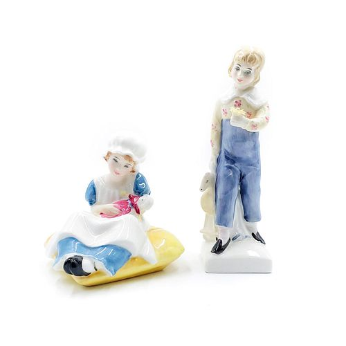 2 ROYAL DOULTON FIGURINES, KATE GREENAWAY COLLECTION