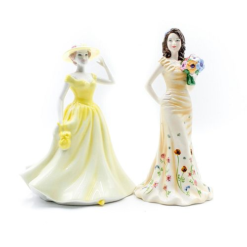 2 ROYAL DOULTON FIGURINES; GEORGIA, SPRING TIME