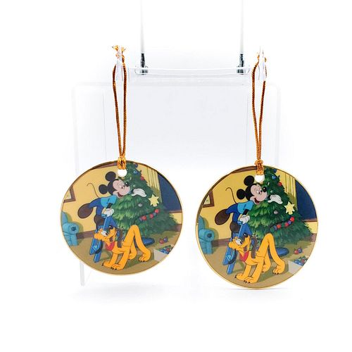 2 DISNEY CLASSIC COLLECTION PLUTO'S CHRISTMAS ORNAMENTS