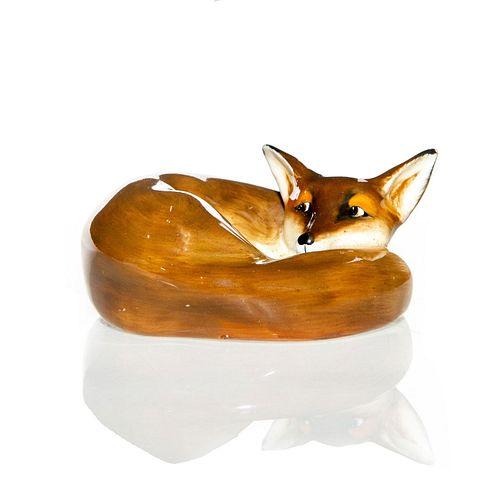 ROYAL DOULTON ANIMAL FIGURINE, CURLED FOX HN 147D