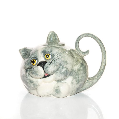 CARLTON WARE LIDDED TEAPOT GREY CAT