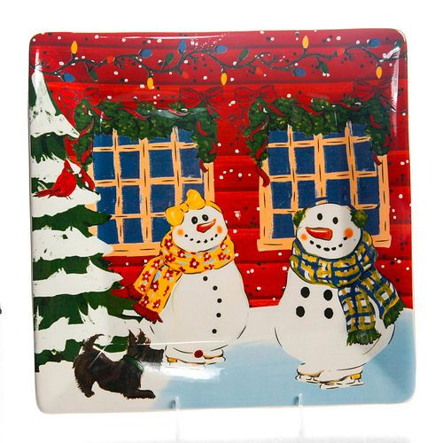 NANTUCKET HOME FOR HOLIDAY CERAMIC PLATE