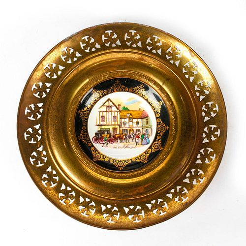 REGENCY CHINA AND BRASS PLATE, OLD COACH HOUSE YORK