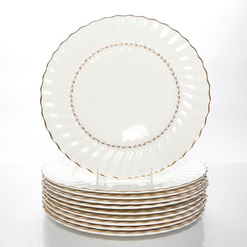 ROYAL DOULTON ADRIAN 10 LARGE PLATES H4816, WITH CASE