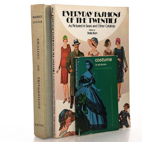 3 BOOKS VARIOUS FASHION AND COSTUMING HISTORY SUBJECTS