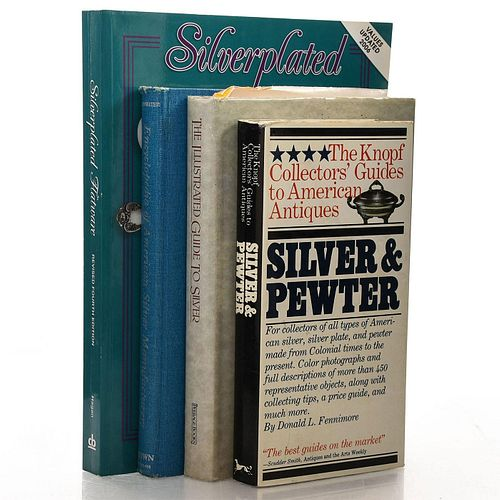 4 BOOKS VARIOUS SILVER AND SILVERPLATE PRICE GUIDES