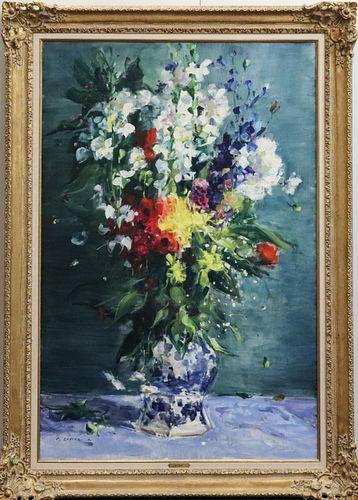 Gaston Sébire Floral Still Life Large Oil