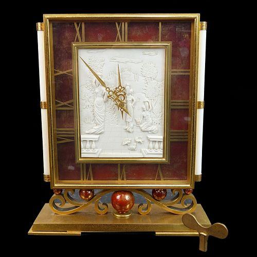 Rare Gubelin Desk Clock