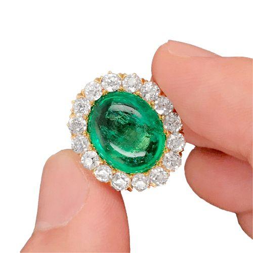 Tiffany & Co Emerald, Diamond and 18K Ring