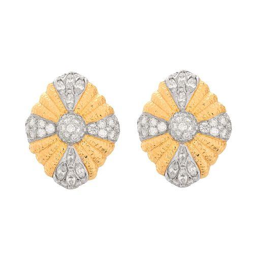 Large Diamond and 18K Earrings