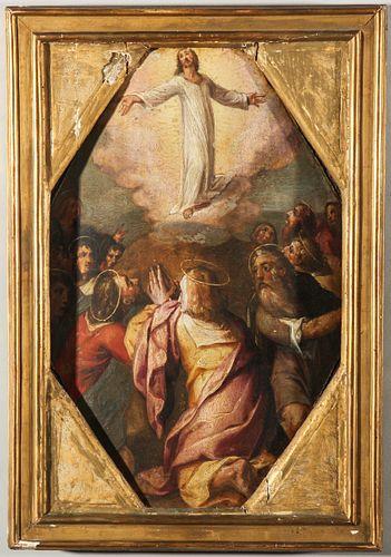 Francesco Curia Ascension Italian Renaissance Oil