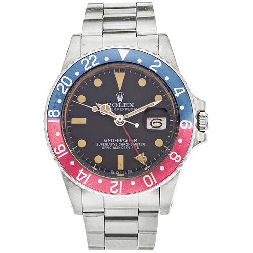 ROLEX OYSTER PERPETUAL GMT-MASTER. STEEL. REF. 1675, CA. 1978 - 1979