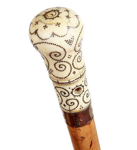 Ivory Pique Cane