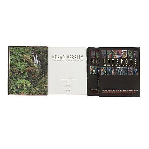 Books on Biodiversity. Megadiversity. Earth's Biologically Wealthiest Nations/ Hotspots. Biodiversidad Amenazada II... Pieces: 3.