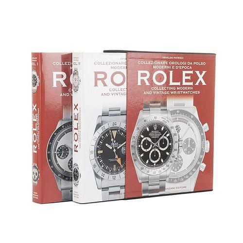 Patrizzi, Osvaldo. Collezionare Orologi da Polso Moderni e D'Epoca Rolex. Italy, 2006. Tomes I - II. Pieces: 2.