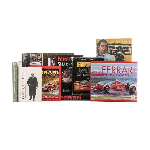 Books on the History of Ferrari.  Ferrari / Die Renngeschicte / The Ferrari Legend / Red Arrows... Pieces: 10.