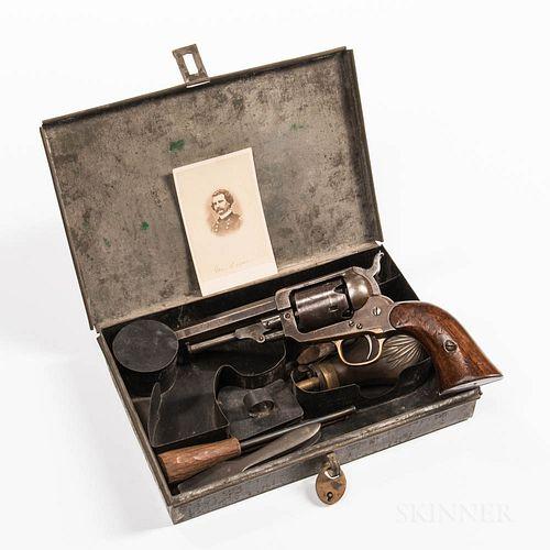 Cased Whitney Third Type Pocket Revolver Identified to General John A. Logan