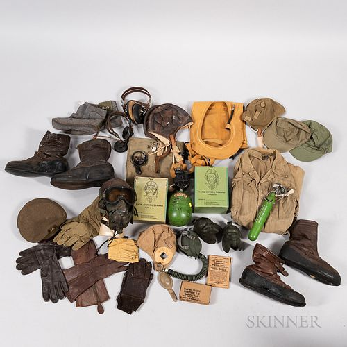 Group of WWII-era Aviation Gear