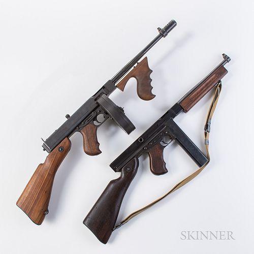 Two Inert Thompson Submachine Guns