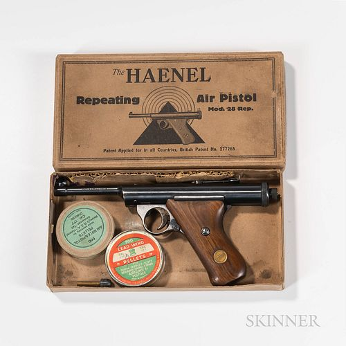 Haenel Model 28-R Repeating Air Pistol .177 Cal. with Original Box