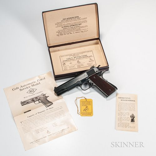 Colt Service Model Ace Semiautomatic Pistol with Original Box and Instructions