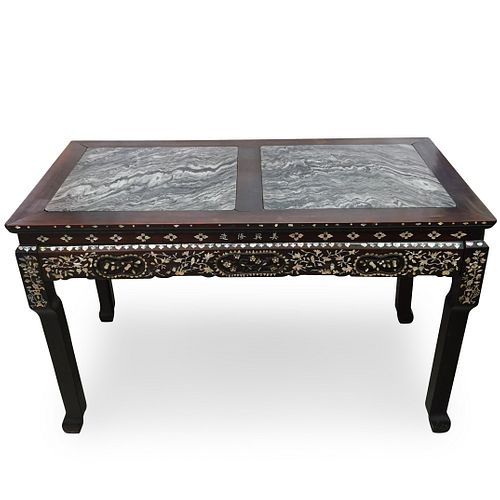 Mother of Pearl Inlaid Side Table