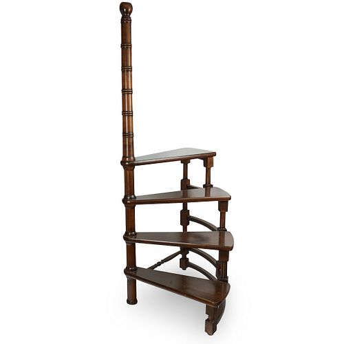 Wooden Spiral Library Ladder