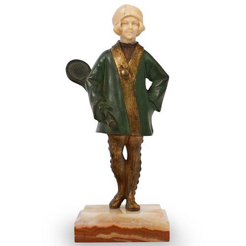 Bronze and Bone Carved Figurine