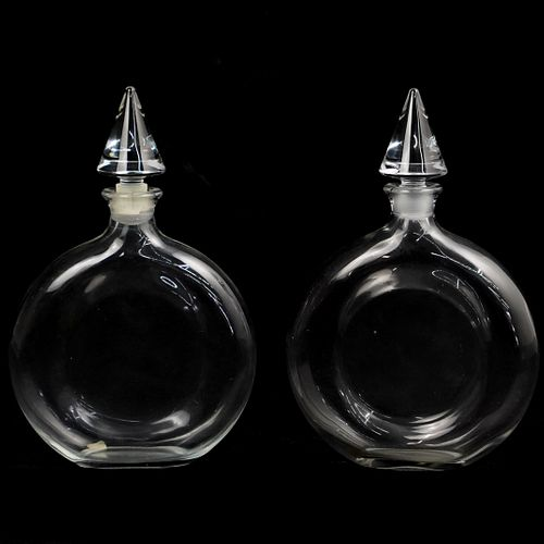 "(2 Pc) Baccarat ""Guerlain"" Glass Shalimar Bottles"