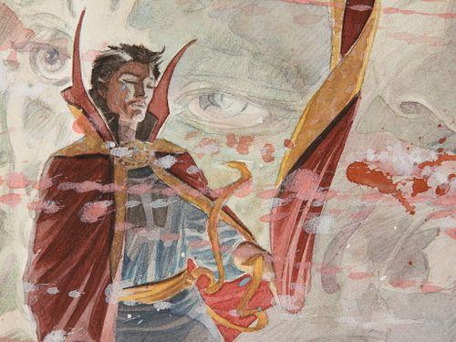 Dan Green Dr. Strange Into Shamballa Painting