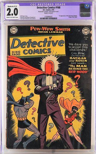 DC Comics Detective Comics #168 CGC 2.0