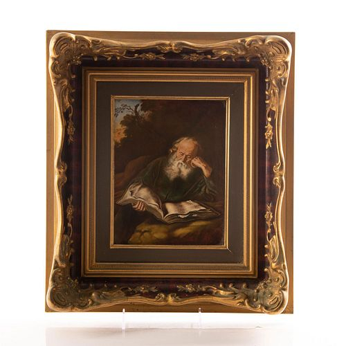ROSENTHAL PORCELAIN PLAQUE OF THE HERMIT