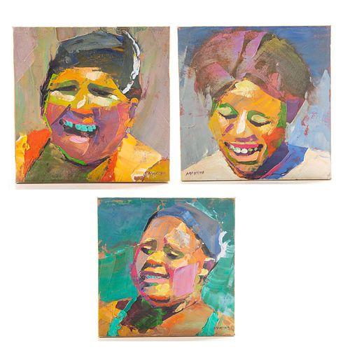 3 MAKIWA MATUMBA (1976 - ), OIL ON STRETCHED CANVAS