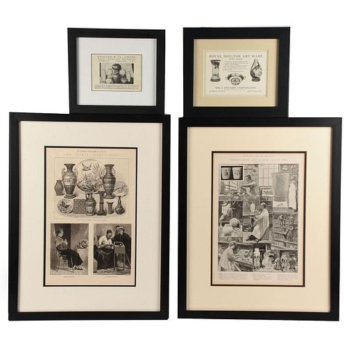 GROUP OF 4 19TH CENTURY ROYAL DOULTON ADVERTISING NOTICES
