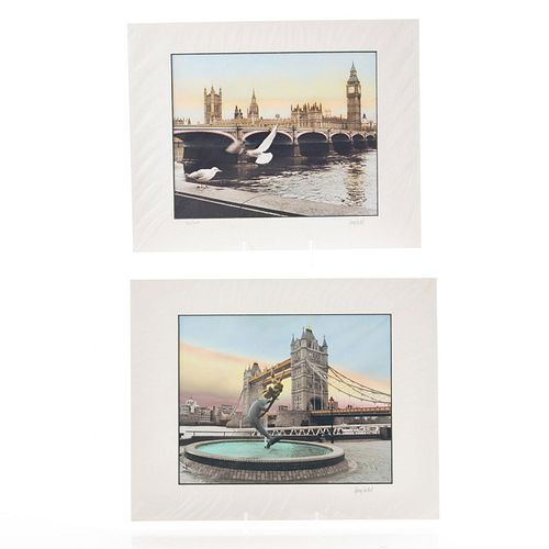 TWO PHOTOGRAPHIC PRINTS, VIEWS OF LONDON BY GARRY SEIDEL