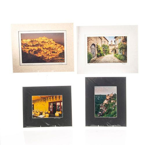 FOUR PHOTOGRAPHIC PRINTS, VARIOUS SCENES IN FRANCE