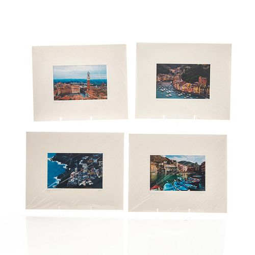 FOUR PHOTOGRAPHS, SCENES IN ITALY BY JOHN GALBO